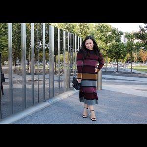 HM striped sweater dress